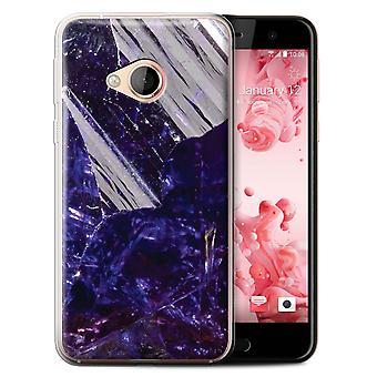 STUFF4 Gel TPU Case/Cover for HTC U Play/Alpine/December/Tanzanite/Birth/Gemstone