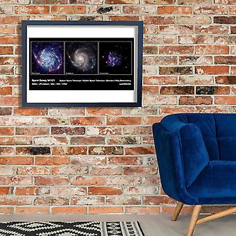 NASA - galáxia espiral M101 Poster impressão giclée