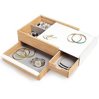 Umbra Stowit Jewellery Box, Natural