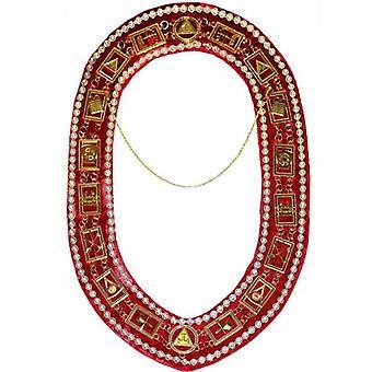 Royal arch - chain collar with rhinestones