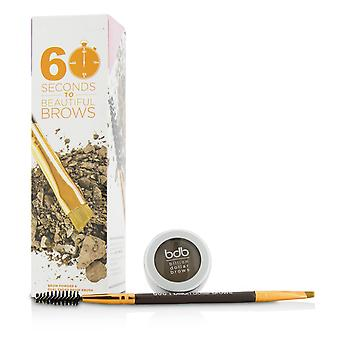 60 seconds to beautiful brows kit (1x brow powder, 1x dual ended brow brush) taupe 208823 2pcs