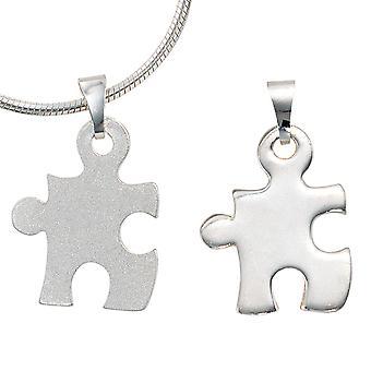 Ladies pendant partner pendant 2-piece 925 sterling silver matted