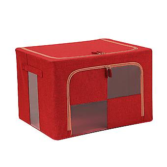 Cube patchwork perspective steel frame quilt storage box 50x40x33cm