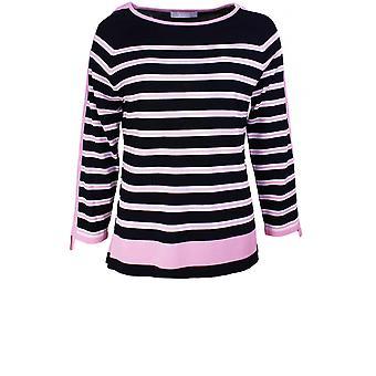 Bianca Navy & Pink Striped Jumper