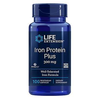 Proteína de Ferro Mais 300 mg - 100 cápsulas - Extensão da Vida