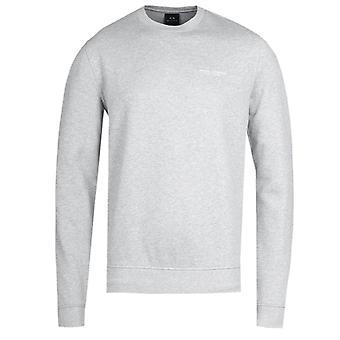 Armani Exchange Grey camisola gola de tripulação