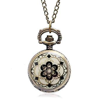 Andalusian bronze vintage style mini pocket watch necklace
