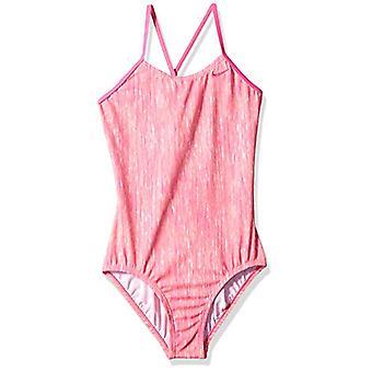 Nike Schwimmen Big Girls' Crossback ein Stück Badeanzug, Orange Puls, rosa, Größe