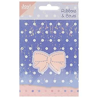 Joy! Crafts Cut and Emboss Die, Small Bow, 1.375-Inch by 2-Inch