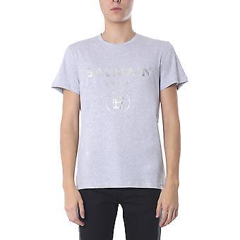 Balmain Th01601i3169ub Men's Grau Baumwolle T-shirt