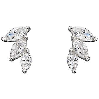 Elements Silver Marquise Earrings - Silver