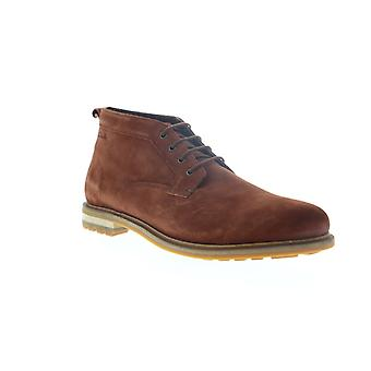 Clarks Foxwell Mid Mens Brown Suede High Top Lace Up Chukkas Boots