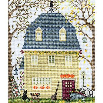 Bothy Threads Cross Stitch Kit - New England Homes: Fall