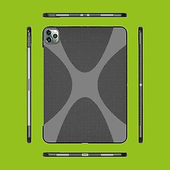 Schutzhülle Silikon X-Line Serie Schwarz Hülle Tasche für Apple iPad Pro 12.9 2020 / 2021