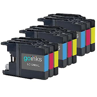 3 Sets of C/M/Y Ink Cartridges to replace Brother LC1280XL Compatible / non-OEM for Brother MFC Printers (9 Inks)