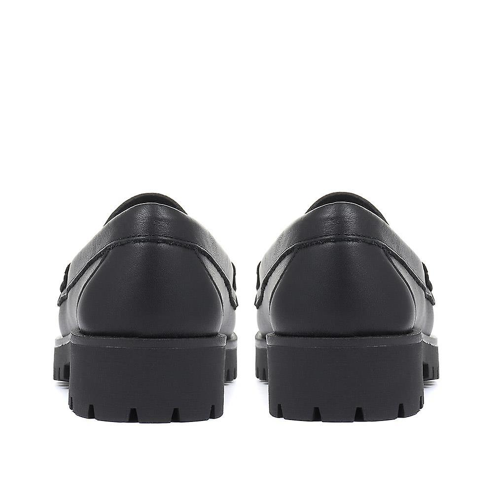 Jones Bootmaker Lilian Chunky Leather Loafers
