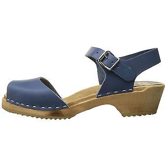 Mia Womens Anja Leather Peep Toe Ankle Strap Clogs