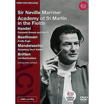 Sir Neville Marriner Conducts the Academy of st. M [DVD] USA import