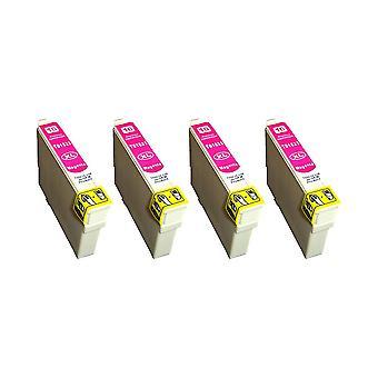 استبدال 4 x روديتوس أبسون 16XL(Pen) الحبر البنفسجي وحدة متوافقة مع القوى العاملة WF-2010W، WF-2510WF، WF-2520NF، WF-2530WF، WF-2540W، WF-2540WF، WF-2630WF، WF-2650DWF، WF-2660DWF، WF-2750DWF، WF