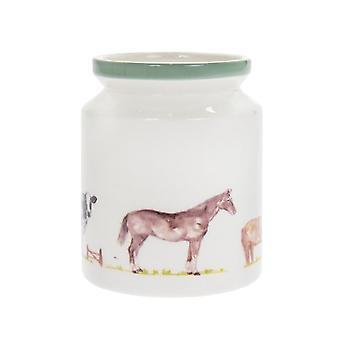Country Life Farm Utensil Storage Jar