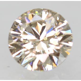 Cert 0.59 Carat Top Light Brown VS1 Round Brilliant Natural Loose Diamond 5.36mm