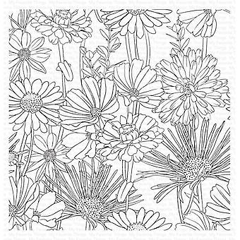 """My Favorite Things Background Cling Rubber Stamp 6""""X6"""" - Flower Field"""