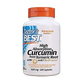 High Absorption Curcumin From Turmeric Root with C3 Complex & BioPerine, 500mg 120 capsules