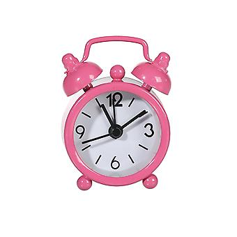Pink Miniature Old Fashioned Style Alarm Clock - Cracker Filler Gift