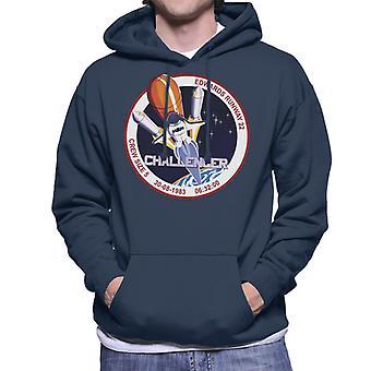 NASA STS 8 Challenger Mission Badge Men's Hooded Sweatshirt