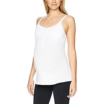 Brand - Arabella Women's Henley Nursing Tank, Bright White, Large