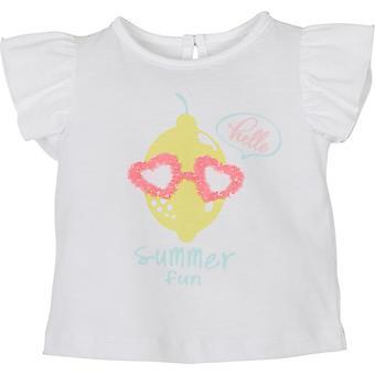 Mamino Baby Girl Summer Fun White Tee Shirt