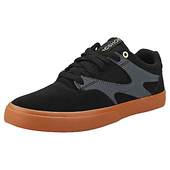 DC Shoes Kalis Vulc Mens Skate Trainers in Black Grey
