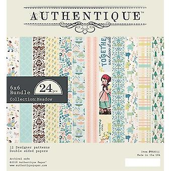Authentique Wiese 6 x 6 Zoll Papier Pad