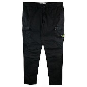 Stone Island Kledingstuk Geverfd Cargo Jeans Black V0029