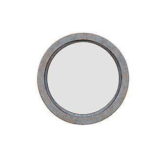 Danya B. Decorative Round 16-Inch Wall Mirror With Antique Copper Metal Frame - Modern Industrial Home And Office Decor