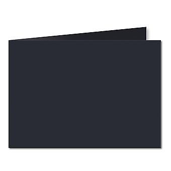 Dark Blue. 148mm x 420mm. A5 (Short Edge). 235gsm Folded Card Blank.