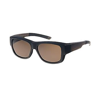 Sunglasses Unisex black/brown with brown lens Vz0036rb