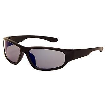 Sonnenbrille Unisex    matt schwarz mit Spiegellinse (170 P)