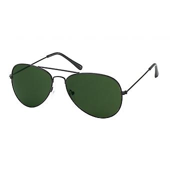 Sunglasses Men's Aviator Black/Green (20-166)