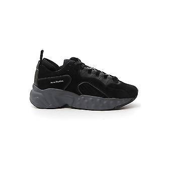 Acne Studios Bd0047blk Men's Black Suede Sneakers