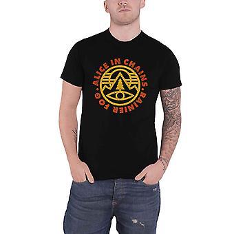 Alice in Chains T Shirt Pine Emblem Band Logo nouveau officiel Mens Black