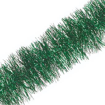 2m x 7.5cm Rich Green Fine Cut Tinsel Kerstboom decoratie