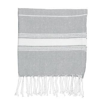 Nicola Spring 100% Turks Katoen Micro Handdoek | Travel Gym Kitchen Hammam Peshtemal Fouta Style Thee doek - Grijs