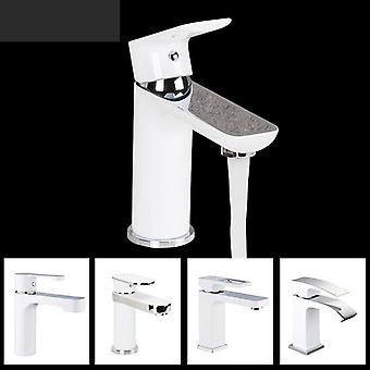 Basin Faucet Brass Mixer Bathroom-sink Faucet, Deck Mounted Bath-taps Faucet