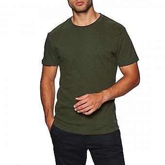 Superdry OL Vintage Brodé T-Shirt Kaki Grit 4EP