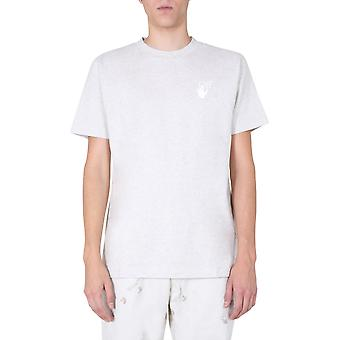 Off-white Omaa027f20fab0090801 Men's Grey Cotton T-shirt