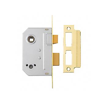 "Yale Locks PM236 Bathroom 2 Lever Sashlock Polished Brass 67mm 2.5"" YALPM236PB25"