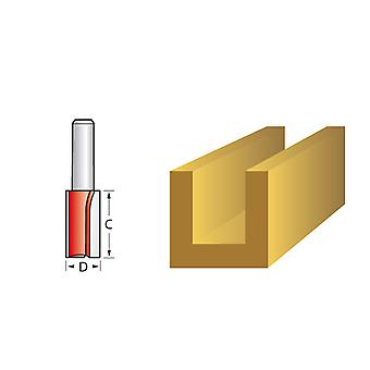 Faithfull Router Bit TCT Two Flute 12.7mm x 25mm 1/4in Shank FAIRB217
