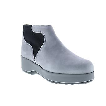 Campista Dessa Womens Gray Camurça Escorregada em Sapatos Euro Sneakers