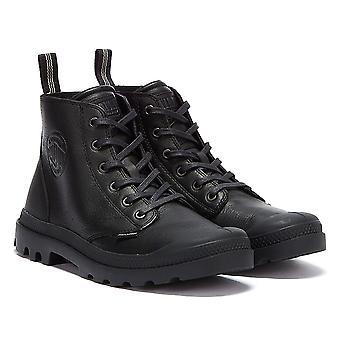 Palladium Pampa Leather Essential Mens Black Boots